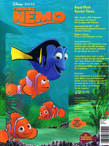TWIN Disney/Pixar NEMO Raschel Mink PLUSH BLANKET throw