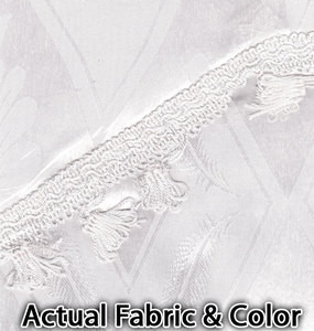 Window Curtains / Drapes attached Valance Liner WHITE
