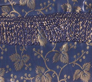 BLACKOUT Curtains/Drapes attached Valance Liner Navy BLUE