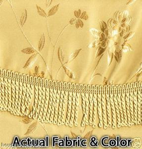 BLACKOUT Curtains/Drapes attached Valance Liner - Gold