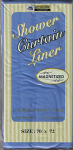 Magnetized VINYL Shower Curtain Liner half Heavy Duty 439