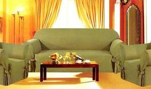 3 pc. Sofa Loveseat Chair Slipcovers Micro Suede -Olive