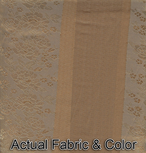 Window Rings Curtains / Drapes Set w/ TieBacks - Coffee