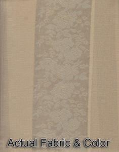 Window Rings Curtains / Drapes Set w/ TieBacks - Beige