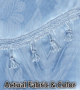 Window Curtains / Drapes with Valance & Liner - L. Blue