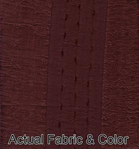 Window Curtain/Drape Set Tab Heading+TieBacks -Burgundy