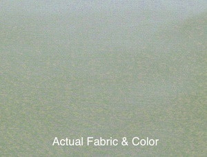 Voile Silk Satin Curtain With Attached Valance - Sage
