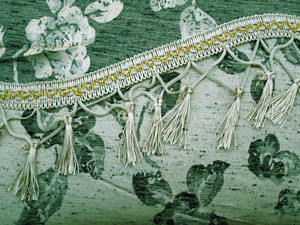 Vintage Curtains/Drapes with Valance Liner - Sage