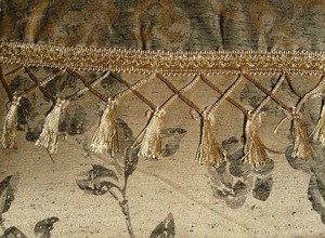 Vintage Curtains/Drapes with Valance Liner - Gold