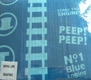 "Thomas & Friends Window Curtain/ Darpe SET BLUE 78""x84"""