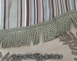 BLACKOUT Curtains Drapes attached Valance Liner - Sage 197