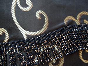 BLACKOUT Curtains Drapes attached Valance Liner - Black