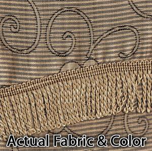 BLACKOUT Curtains Drapes + Valance Line BLACK & GOLD