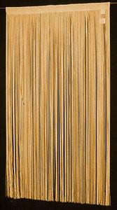 """String Thread Stripe Corridor Curtain L.Gold 40"""" x 84"""""""