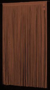 """String / Thread Stripe Corridor Curtain Brown 40"""" x 99"""""""