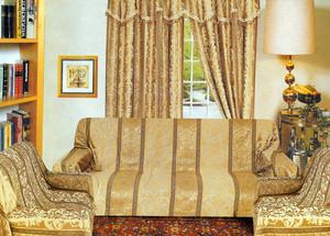 Sofa Loveseat Chair Slipcover slip cover Set -Dark Gold