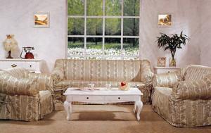 Sofa Loveseat Chair Slipcover slip cover Set -Champagne