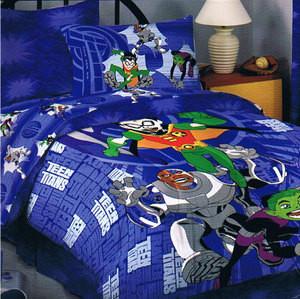 Brand New!!! - WB Twin Teen Titans Comforter Set 3 pc.