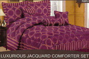KING Bed in a Bag 7 pc. Comforter Bedding Set - Purple