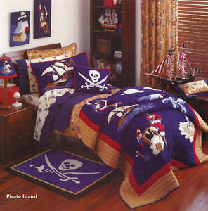 Kids Tab Top BLOCKOUT Window Curtains /Drapes - Pirates