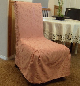 NEW - 6 Pc. Dining Room CHAIR SLIPCOVER FIT set - Pink
