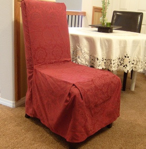 1 Pc.Dining Room CHAIR Furniture SLIPCOVER FIT Burgundy