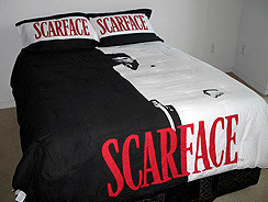 New KING Scarface Tony Montana Comforter Black & White