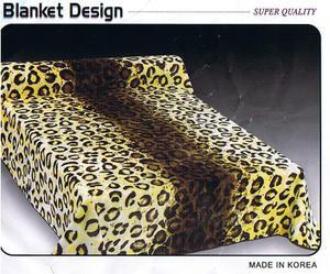 QUEEN Korean Design Tiger/Leopard Plush Raschel Blanket