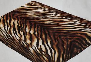 QUEEN Korean Design Tiger Skin Plush Raschel Blanket