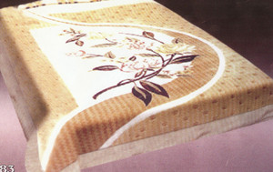 KING Korean Design Floralish Plush Raschel Blanket