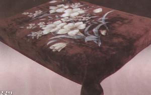 KING Korean Design Floralish Plush Raschel Blanket 019
