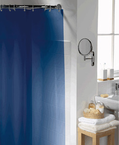 Solid NAVY BLUE Heavy Duty Vynil Shower Curtain Liner