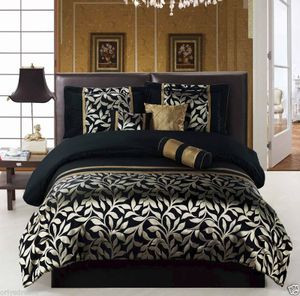 TWIN size Bed in a Bag 5 pcs Luxurious Comforter Bedding/Bed Ensemble Set - Leaf