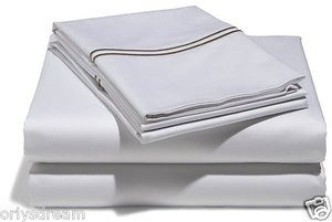 """MADISON HOME"" 500-Thread-Count 100% Cotton Hotel Stitch Sateen Sheet Set - KING"