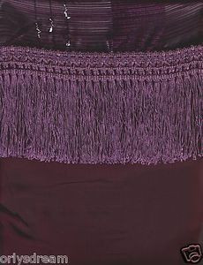"New Elegant Curtain / Drape Set + Valance + Backing + Tie Backs ""Angela"" PURPLE"