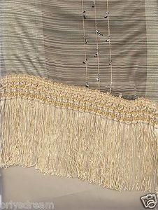 """New Elegant Curtain / Drape Set + Valance + Backing + Tie Backs """"Angela"""" BEIGE"""