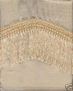 "New Elegant Curtain / Drape Set + Valance + Backing + Tie Backs ""Marisol"" BEIGE"