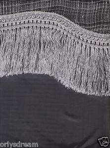 "New Elegant Curtain / Drape Set + Valance + Backing + Tie Backs ""Marisol"" SILVER"