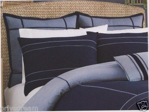 Over Size TWIN 6 pc Navy Blue HOTEL COLLECTION Bed Bedding NAUTICA Comforter Set