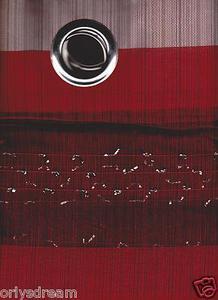 "New Elegant Metal Grommet See-Through Sheer Curtain Set ""Morgan"" - BURGUNDY"