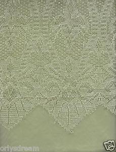 "New Beautiful Elegant SHEER & LACE 2 Panels Curtains/Curtain Set ""Belle"" - SAGE"