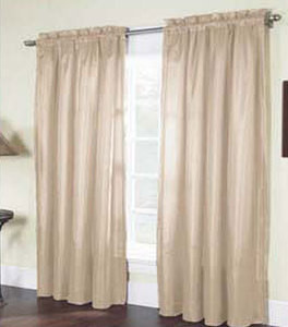"Solid Thermal Insulated Back 2 Panels Rod Pocket  Blackout Curtain  84""L - IVORY"