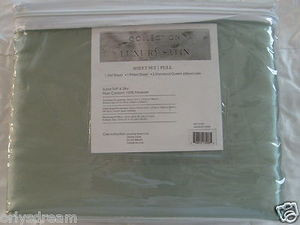 "Luxury Soft ""Silk"" / ""Silky"" 4 Pc. FULL Size Bed Satin Sheet Set - Sage Green"