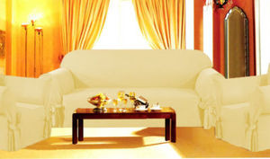 3 Pcs Slipcovers Set , Sofa + Loveseat + Chair Covers / Slipcover - GOLD color