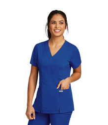 Grey's Anatomy : Mock Wrap Scrub Top for Women*