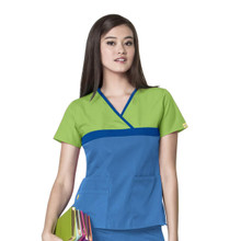 WonderWink Origins : The TricCharlie Mock Wrap Scrub Top For Women - GRM