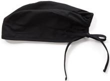 Adjustable Black Colored Scrub Cap for Women