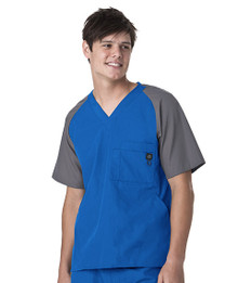 WonderWink Men : Block Sleeve Scrub Top*