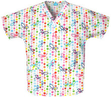 Butterfly Dots Scrub Top - Cherokee 4700