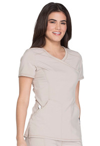 Infinity : Antimicrobial Mock Wrap Scrub Top For Women*